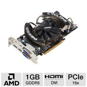MSI Radeon HD 6850 1GB GDDR5 Video Card