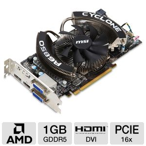 MSI Radeon HD 6850 1GB GDDR5 PCIe Open Box