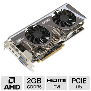 MSI Radeon HD 6950 2GB GDDR5 Twin Frozr II/OC