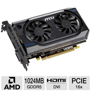 MSI Radeon HD 7750 1GB GDDR5 PCIe 3.0 Video Card
