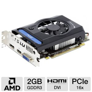 MSI Radeon HD 7750 2GB GDDR3 Video Card