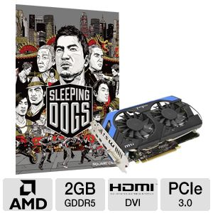 MSI Power Edition Radeon HD 7850 Video Card Bundle