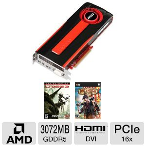 MSI Radeon HD 7970 3GB GDDR5 PCIe 2.0 Video Card