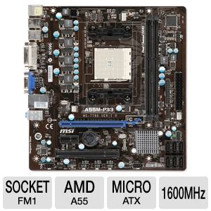 MSI FM1 AMD A55 Motherboard