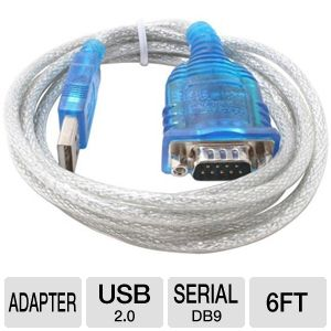Sabrent 6' ft USB 2.0 to Serial Adapter Cable