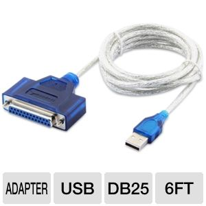 Sabrent 6-Foot Adapter Printer Cable