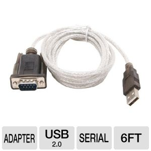 Sabrent 6-Foot USB to Serial 6ft Adapter Cable