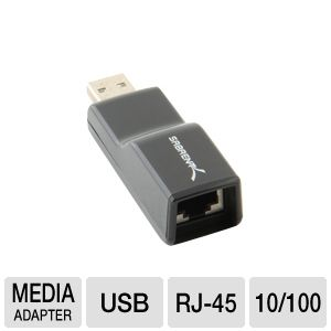 SABRENT USB 2.0 / RJ45 10/100 Network Adapter