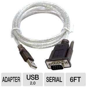 Sabrent USB 2.0 to Serial 6ft Adapter Cable