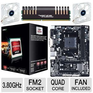 AMD A10-5800K/GB A55 MB/4GB DDR3/2X FAN BUNDLE