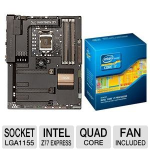ASUS SABERTOOTH Z77 and Intel Core i7-3770S Bundle