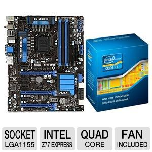 MSI Z77A-GD65 Board and Intel Core i7-3770K Bundle