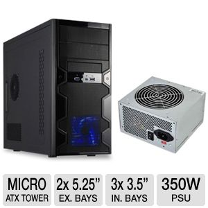 Apex MicroATX Computer Case with Ultra 350W PSU
