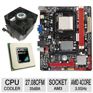 BIOSTAR A780L3B 760G AM3 Motherboard Bundle