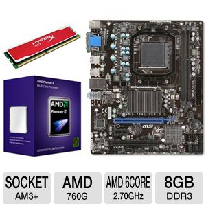 MSI 760GM-P23 (FX) AMD Socket AM3+ Motherbo Bundle