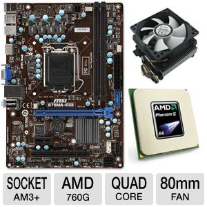 MSI 760GM-P34 (FX) Motherboard Bundle