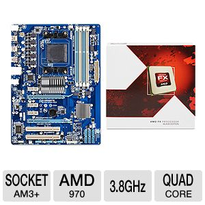 GIGABYTE GA-970A-DS3 &amp; AMD FX 4130 CPU Bundle