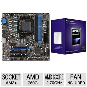 MSI 760GM-E51(FX) AMD 760 Socket AM3+ Mothe Bundle