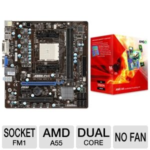 MSI FM1 AMD A55 Motherboard Bundle