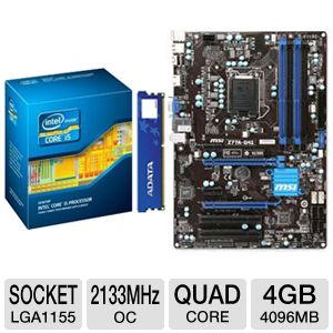 MSI Z77A-G41 Intel 7 Series Z77 Motherboard Bundle
