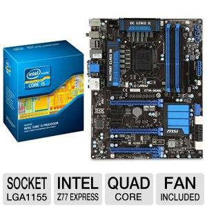 MSI Z77A-G45 Intel 7 Series Z77 Motherboard Bundle