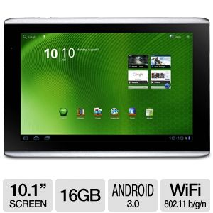 "Acer Iconia Tab A500-10S16u 10.1"" Android Tablet"