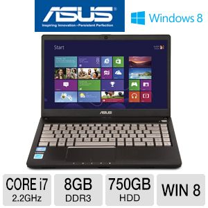 "ASUS Q400A 14"" Core i7 750GB HDD Laptop"