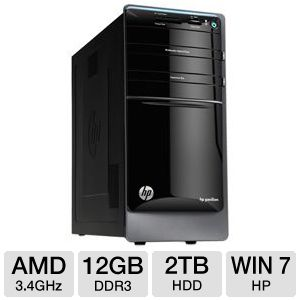HP Pavilion p7 AMD Quad-Core 2TB Desktop PC
