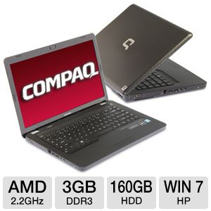 "Compaq Presario CQ62-228DX 15.6"" Black Notebook PC"