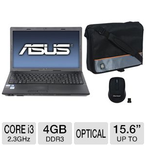 "ASUS X54C 15.6"" Core i3 500GB HDD Notebook Bundle"