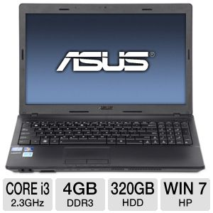 "ASUS X54C 15.6"" Core i3 320GB HDD Notebook"