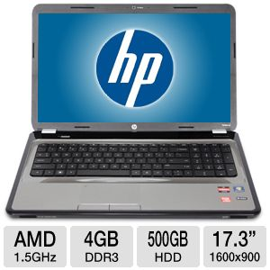 HP Pavilion AMD Quad-Core 500GB HDD Notebook