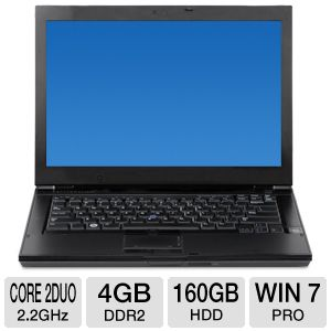 "Dell Latitude 14.1"" Core 2 Duo 160GB HDD Notebook"