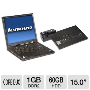 "Lenovo ThinkPad T60 15.0"" Notebook (Off-Lease)"