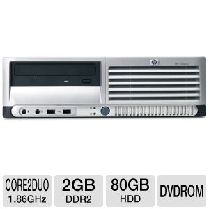 HP Compaq Core 2 Duo 80GB HDD Desktop (Off-Lease)