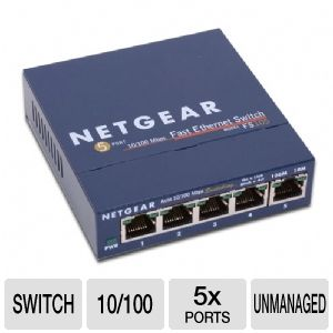 Netgear FS105NA - 5 Port Network Switch
