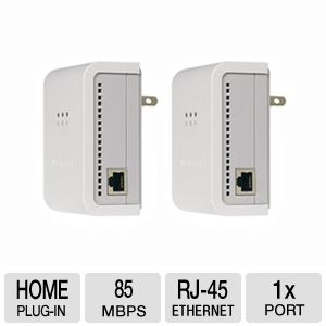 NetGear XET1001 85 Mbps Powerline Network A Bundle