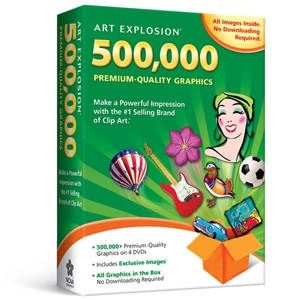 Nova Development Art Explosion 500,000 Software 