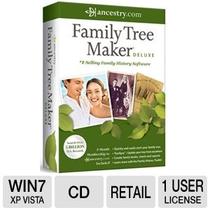 Ancestry Family Tree Maker 2012 Deluxe Software