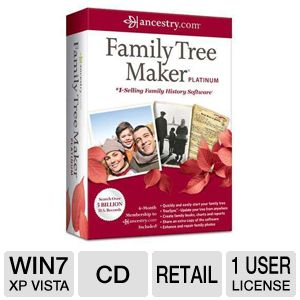 Ancestry Family Tree Maker 2012 Platinum Software