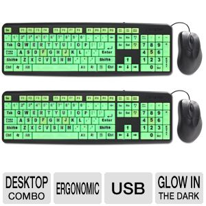 EZ Eyes Deluxe Glow-in-Dark Keyboard & Mouse