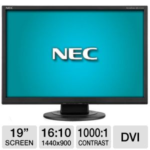 NEC AS191WM-BK 19&quot; Class Widescreen LCD Monitor