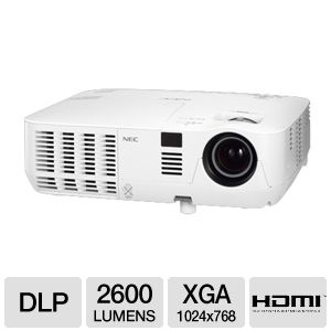 NEC NP-V260X XGA 3D Mobile DLP Projector