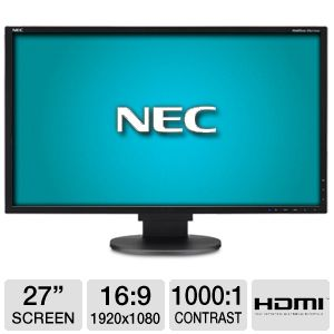 "NEC 27"" Class 1920x1080 5ms HDMI LED Monitor"