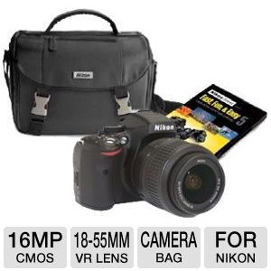 NIKON D5100 16MP Digital SLR Camera Bundle