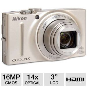 Nikon COOLPIX S8200 16MP Compact Digital Camera
