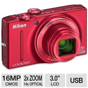 Nikon 26289 Coolpix S8200 Digital Camera