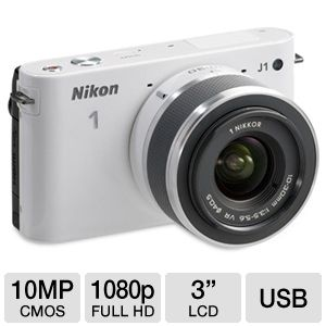 Nikon 1 J1 White Digital Camera