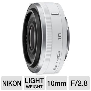 Nikon 3320 1 NIKKOR 10mm f/2.8 Lens - White