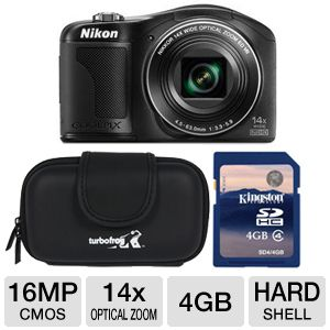 Nikon Coolpix L610 Digital Camera  Bundle